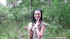 Bitch stop sexy czech brunette gets fucked outdoors