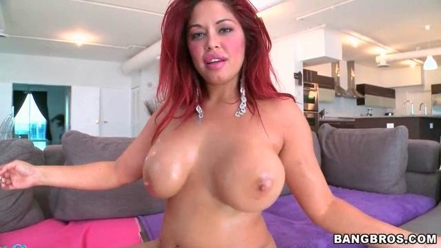 Perky brunette milf in fishnet stockings gets an anal