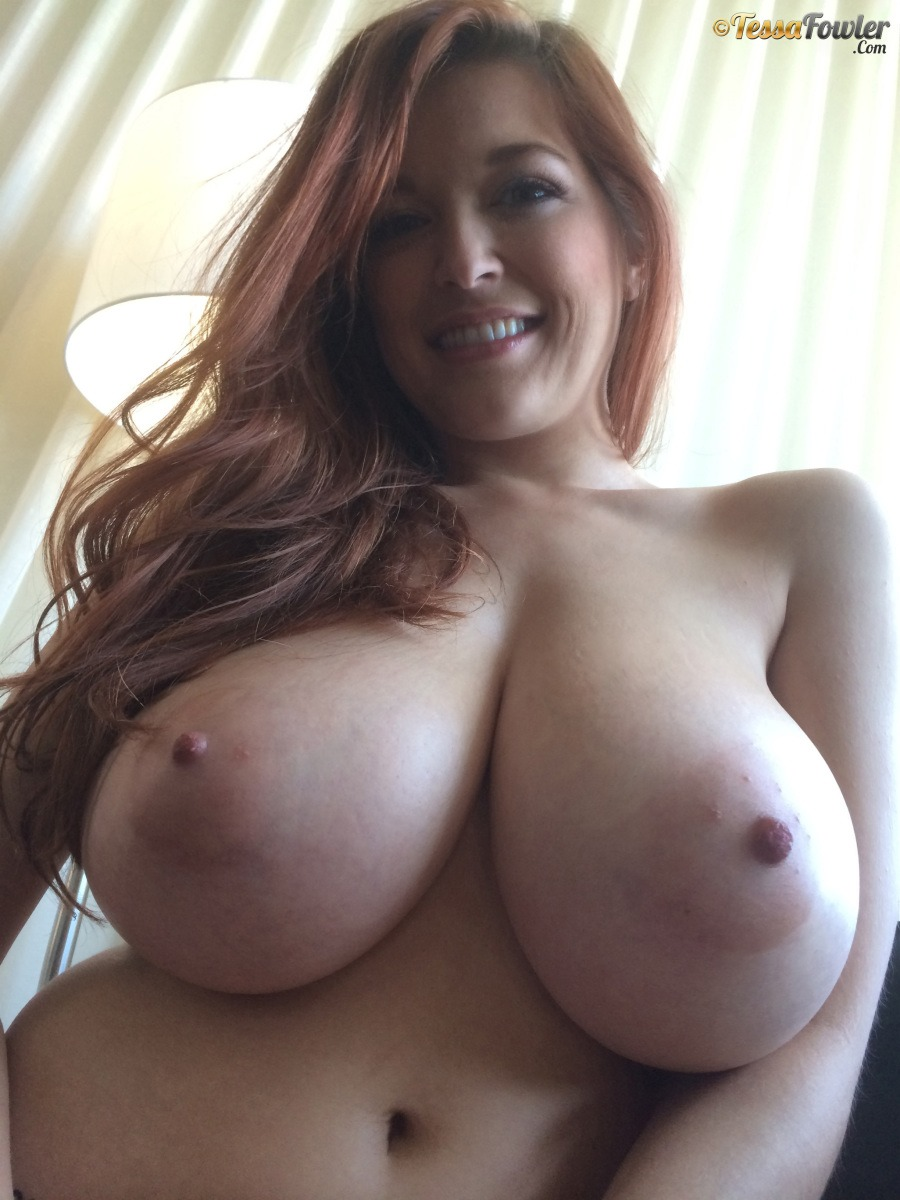 Tessa fowler sexy massive boobs nude while playing video games