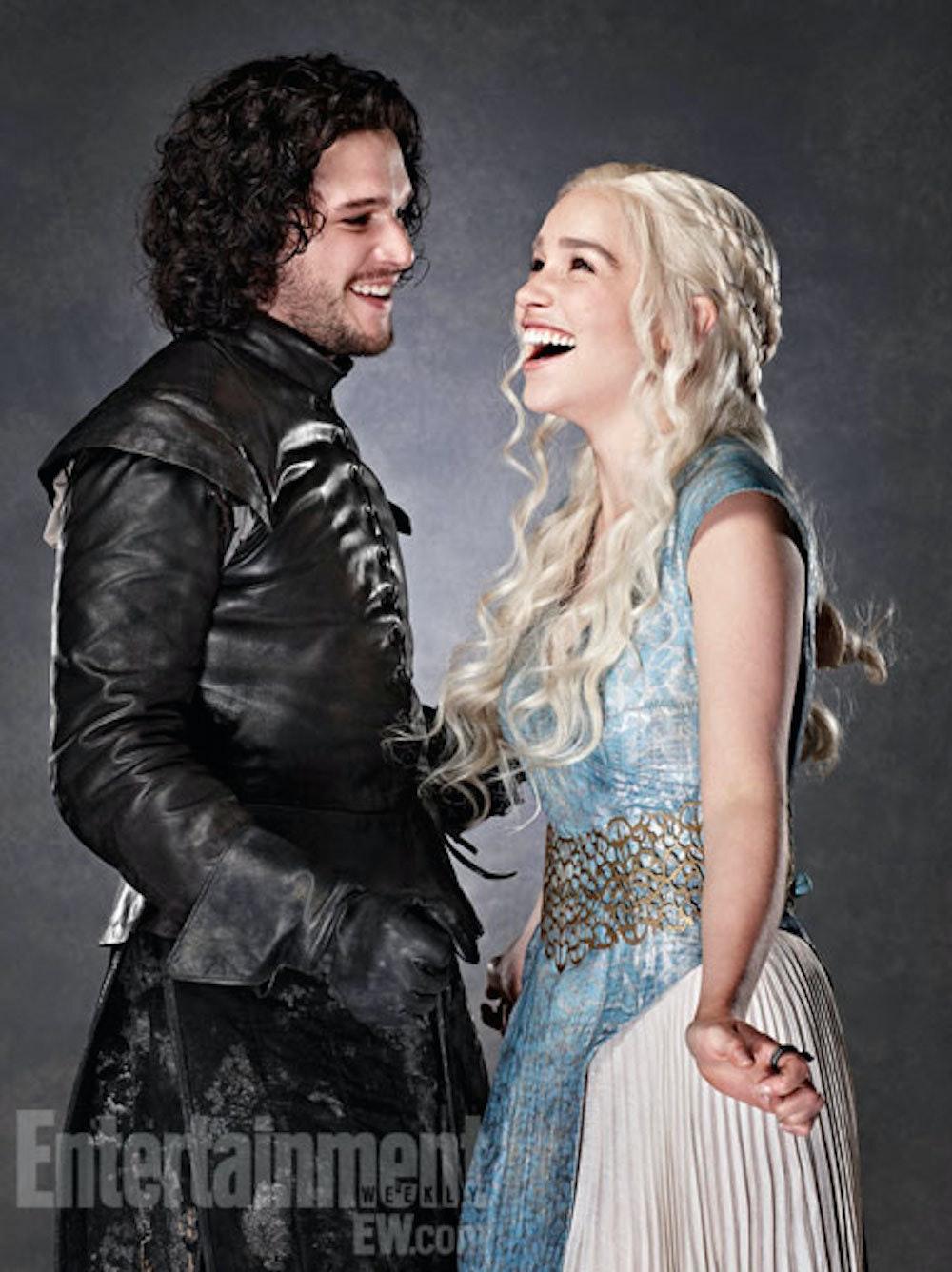 Game of thrones season daenerys and jon snow