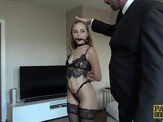 Real time bondage sex video milf tied