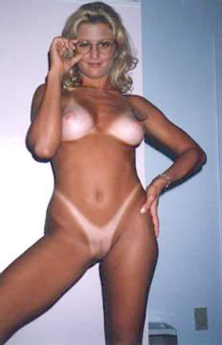 Naked woman tan lines