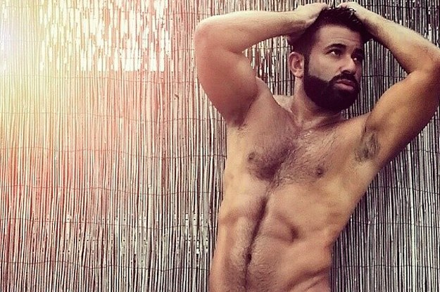 Big hairy muscle men