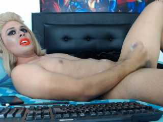 Hot blonde ladyboy twink sucks dick and anal