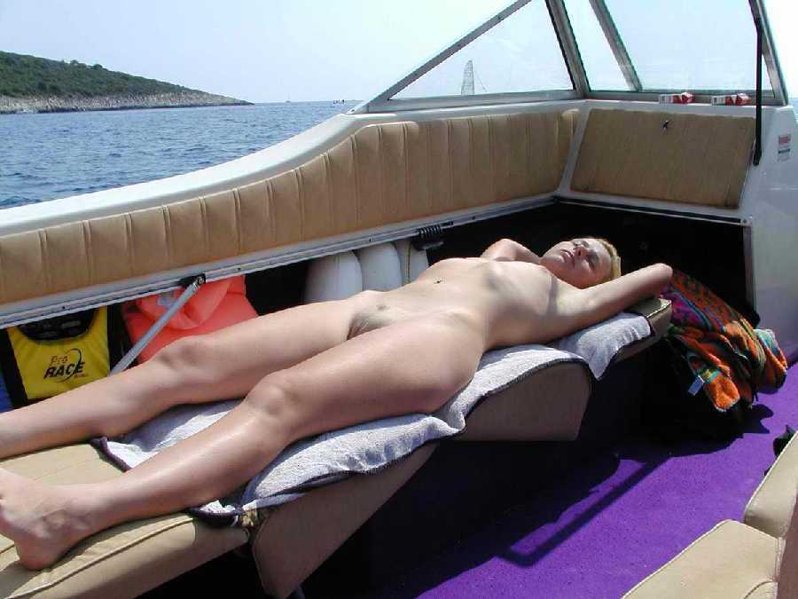 Naked in the boat
