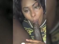 Wild hardcore ebony public facial