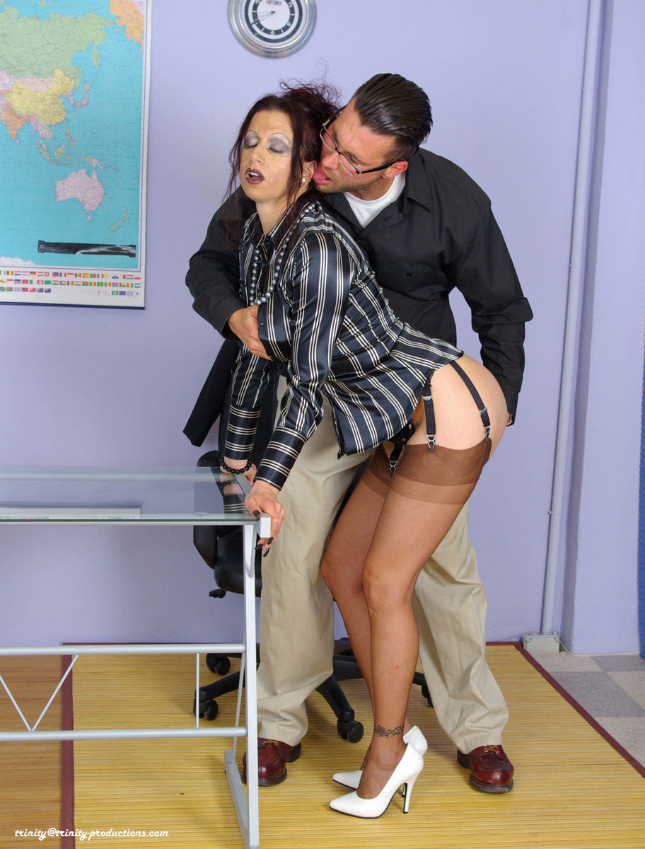 Trinity fully clothed sex mature teacher in stockings