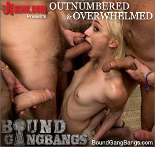 Year old lizzy london gets tied up and gangbanged