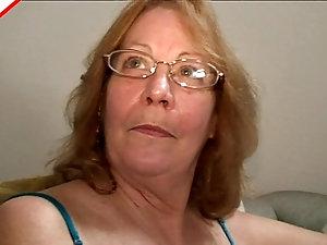 Old fat granny gets creampie
