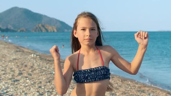 Girls on beach pics