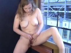 Neighbors hot wife teases stripping window voyeur free