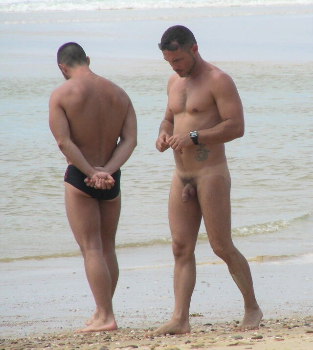 Nude hairy uncut men