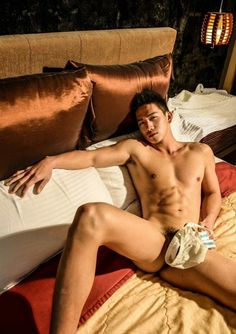 Young naked asian boy