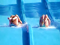 Accidental nipple slip on a water slide voyeur videos