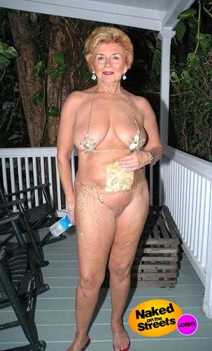 Granny naked in public