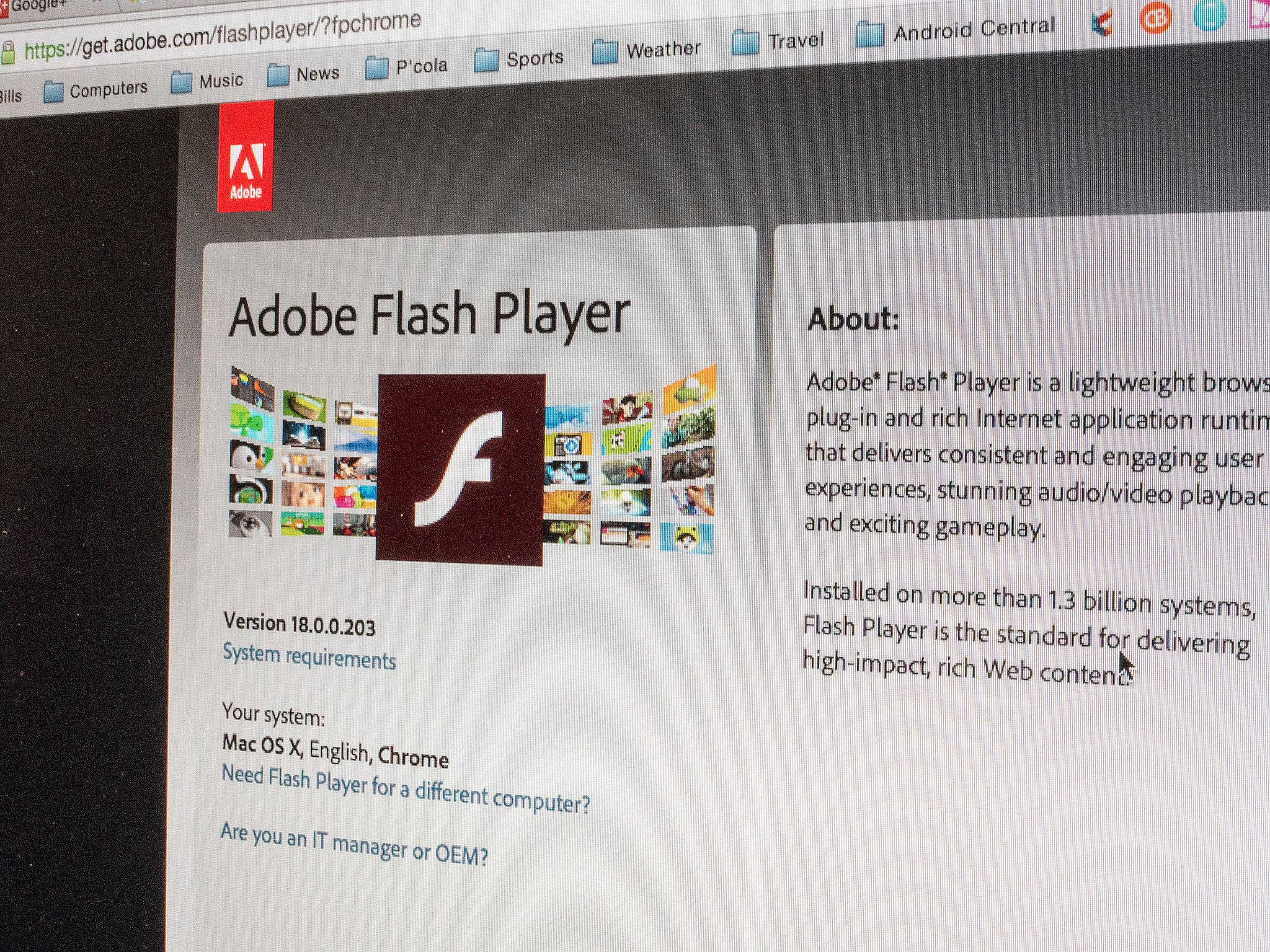 Flash player does not work in chrome