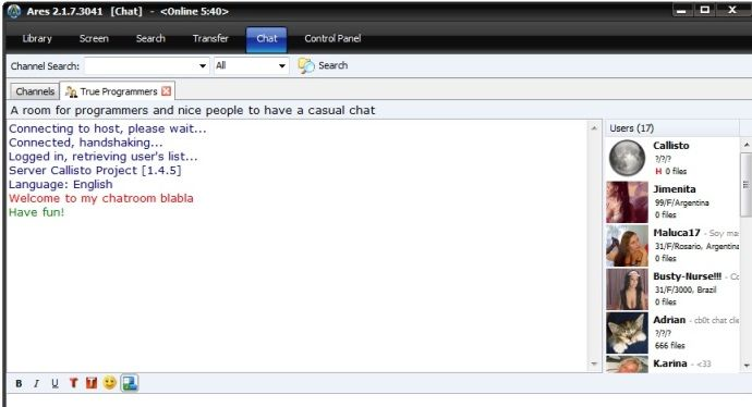 Chat room for fun