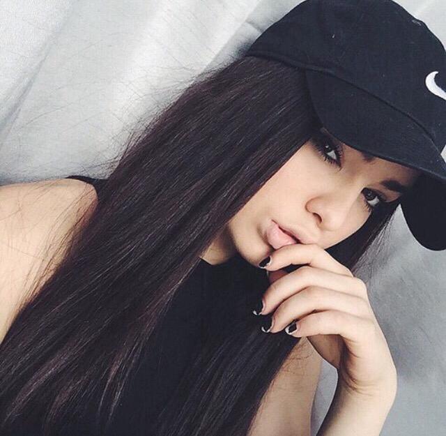 Cute girls with black hair