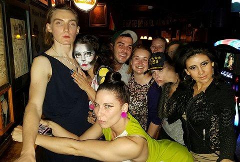 Girls flashing in bars