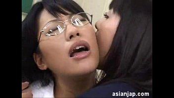 Japanese girls wet kissing