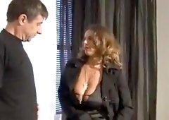 Dirty saggy tit fucks big black cock interracial wife