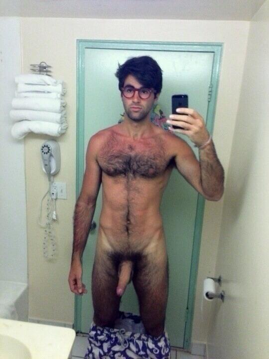 Hairy nude nerds