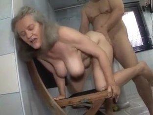Group of women give handjob to naked man