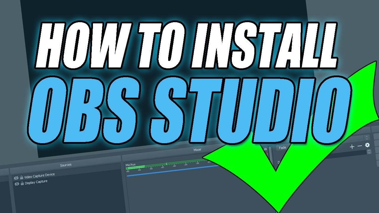 How to install obs studio
