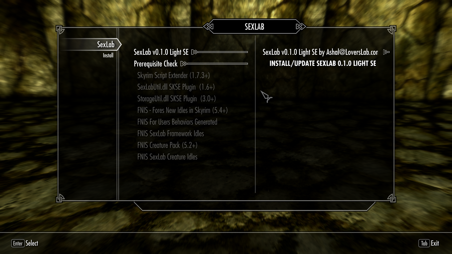How to use sexlab for skyrim