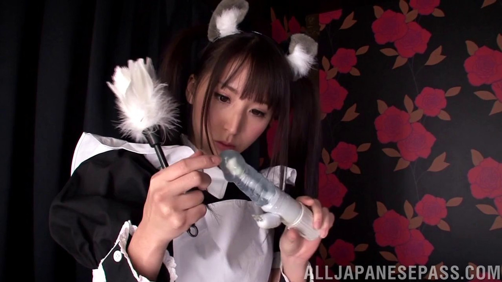 Japanese french maid into hairy pussy fucking xxxbunker