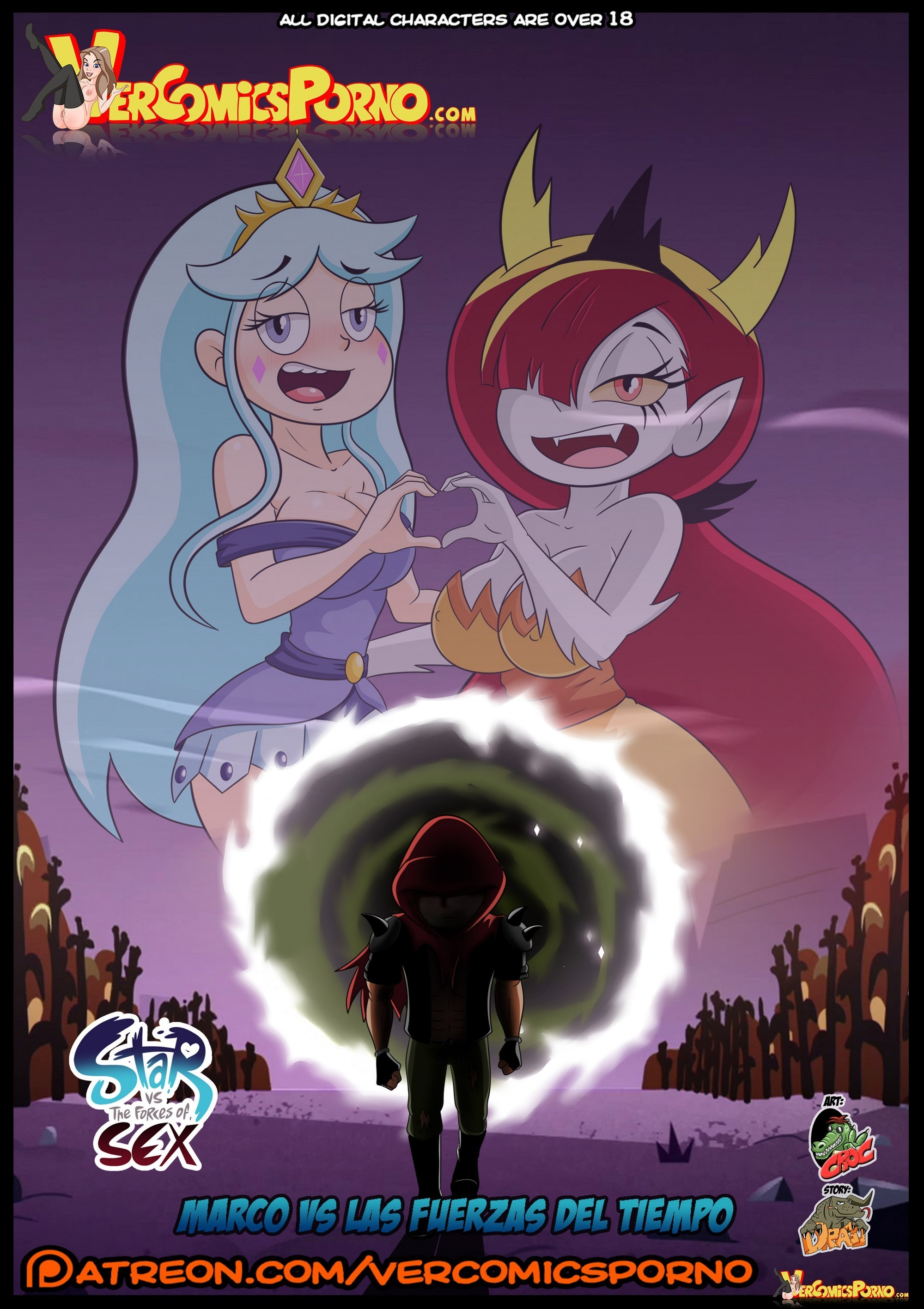 Marco and star hentai porn