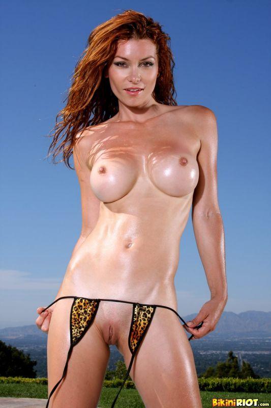 Redhead bikini nude